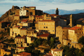 Late afternoon lights in Speloncato mountain village, Corsica
