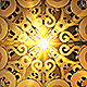 Abstract Gold Ornament Loop Background - VideoHive Item for Sale