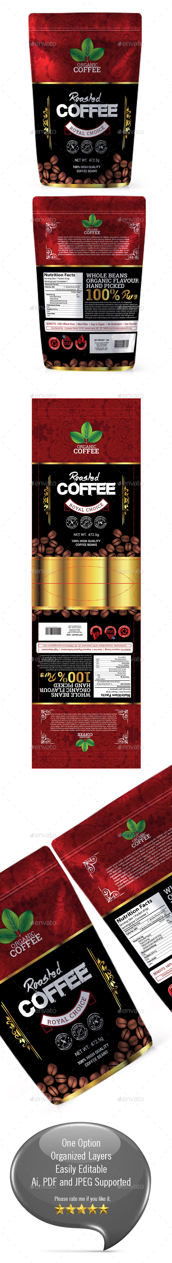 GraphicRiver Coffee Packaging Template vol-01 20671527