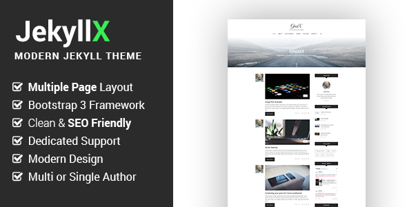 JekyllX - Super Fast Multi-Purpose Jekyll Blog Theme - Jekyll Static Site Generators