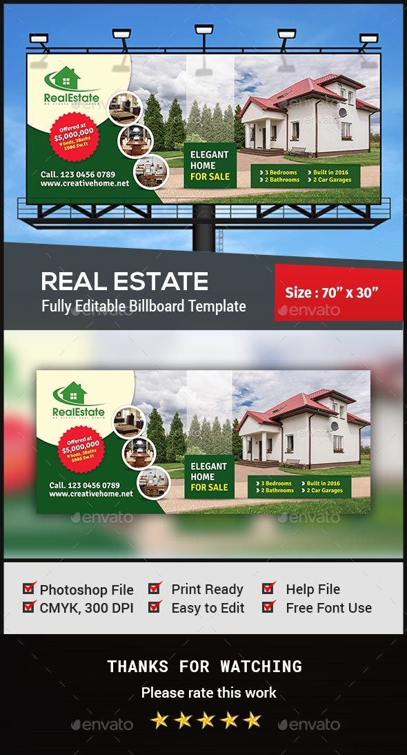 Real Estate Billboard - Signage Print Templates