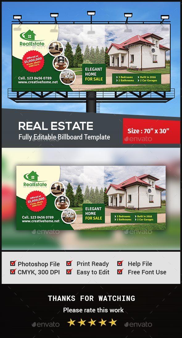GraphicRiver Real Estate Billboard 20671593