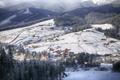 mountain views in the ski resort