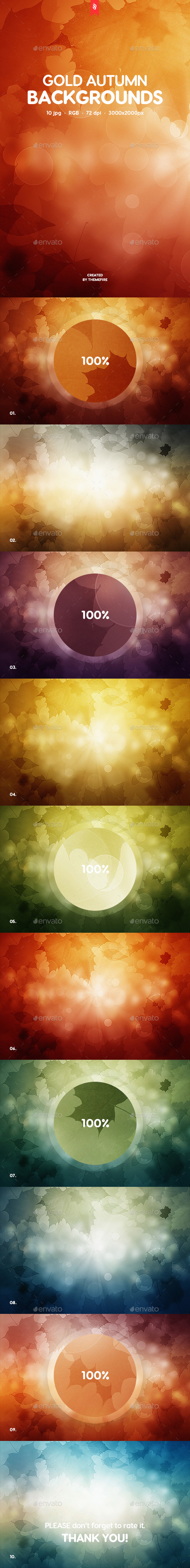 Gold Autumn Backgrounds - Nature Backgrounds