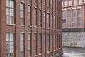 Old red brick facade factory buildings in Tampere, Finland. Suomi - PhotoDune Item for Sale