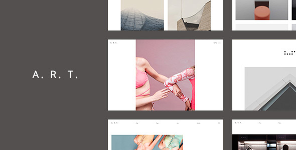 Art. Simple & Clean WordPress Theme for Creatives