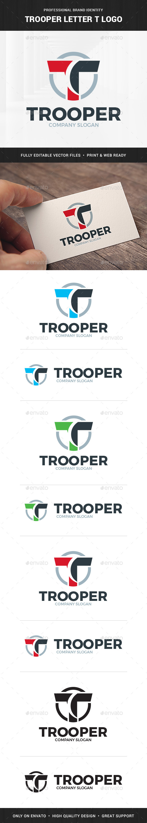 Trooper - Letter T Logo - Letters Logo Templates