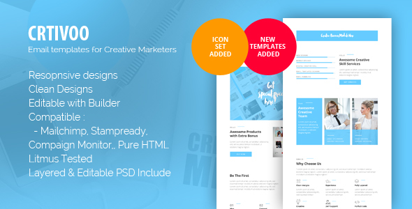 Crtivoo - Creative Business Email Template