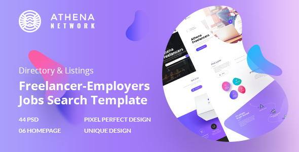 ATHENA - Freelancer and Employers Jobs Search Template - Corporate PSD Templates