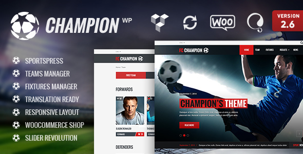 Champion - Soccer & Football WordPress Theme - Charity Nonprofit