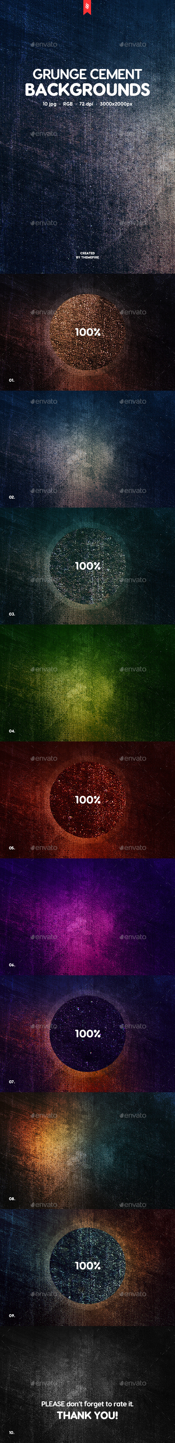 Grunge Cement Backgrounds - Urban Backgrounds