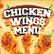 Chicken Wings Menu