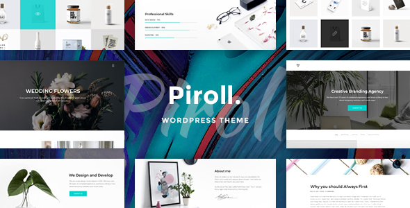 ThemeForest Piroll Portfolio WordPress Theme 20672319