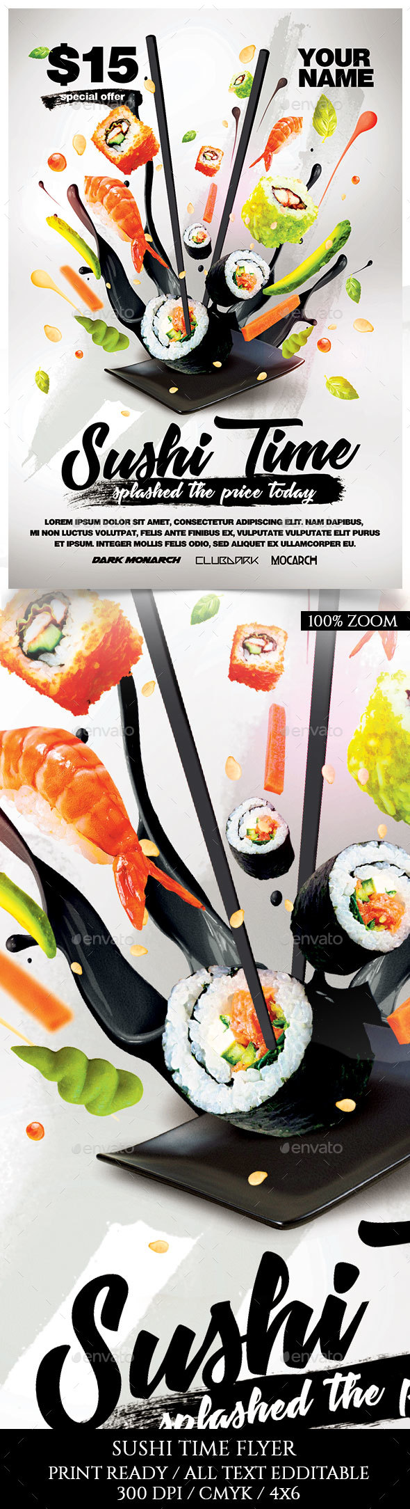 Sushi Time Promotion Flyer - Miscellaneous Events