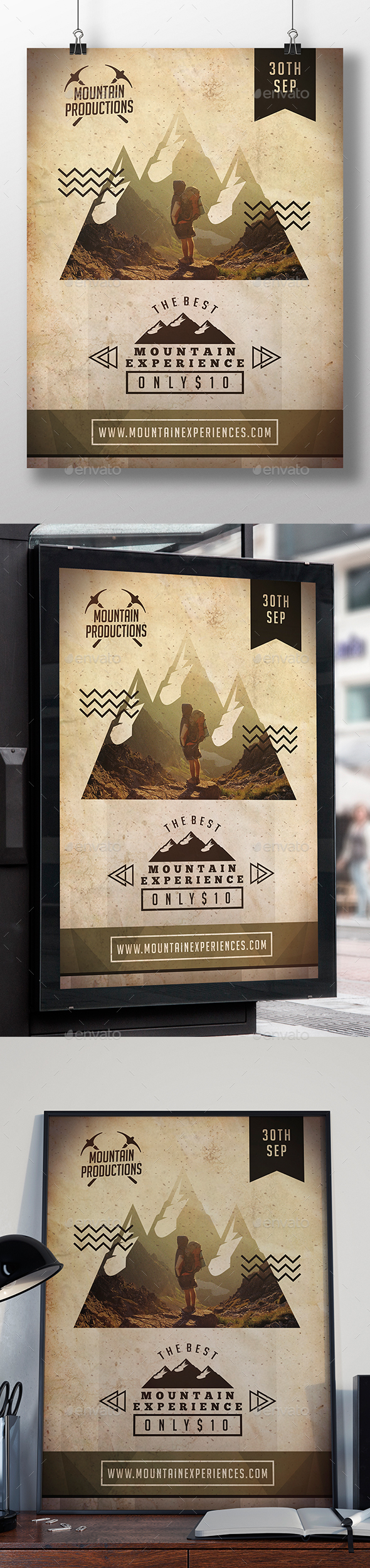 Mountain Experience Flyer Template - Sports Events