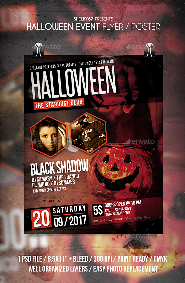 Halloween Event Flyer / Poster - Events Flyers