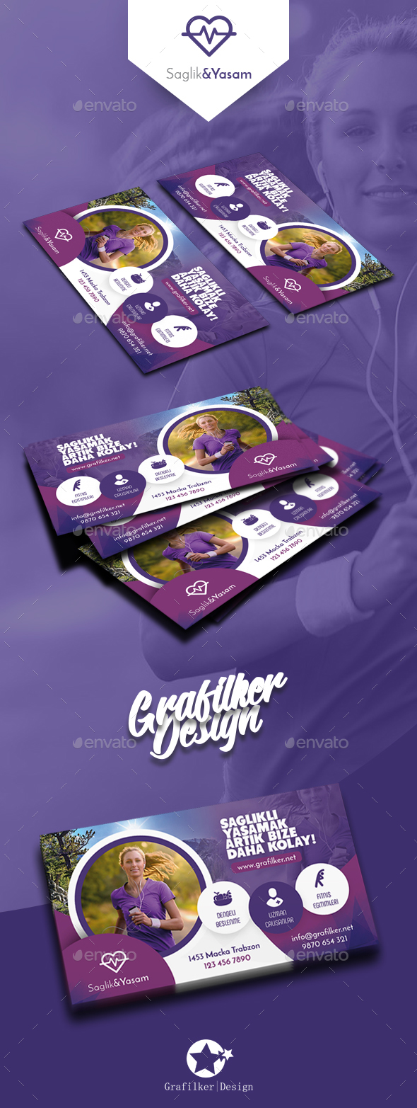 GraphicRiver Healthy Life Business Card Templates 20672411