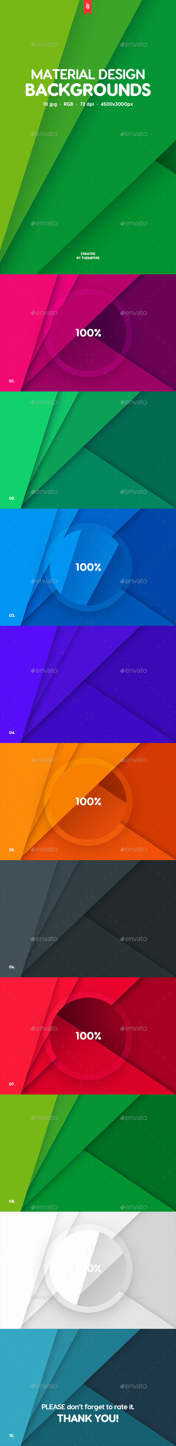 Flat Material Design Backgrounds - Patterns Backgrounds