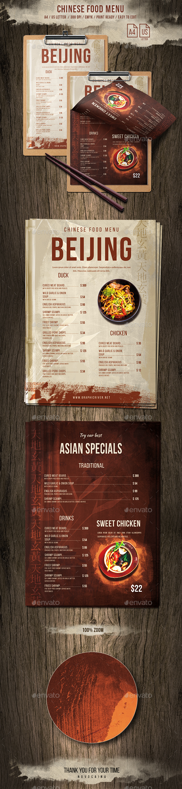 GraphicRiver Chinese Single Page A4 US Letter Food Menu 20672464