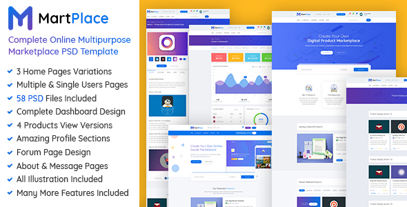 MartPlace - Complete Online Multipurpose Marketplace PSD Template