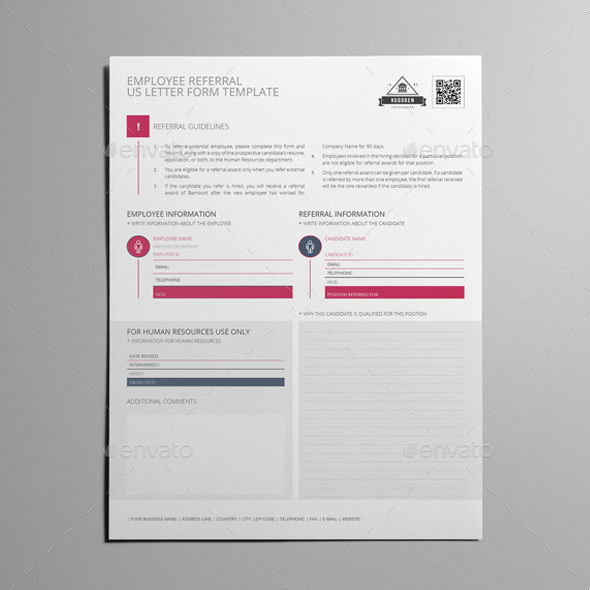 Employee Referral US Letter Form Template   Kfea 1 Employee Referral US  Letter Form Template   Kfea 2 ...
