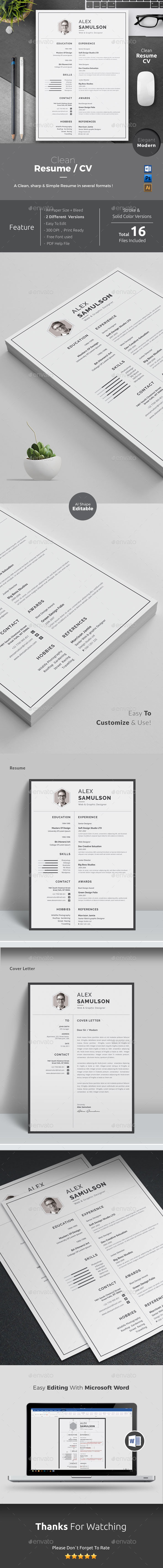 GraphicRiver Resume 20672604