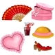 Fan, Shoes, Perfume, Hat, Jewelry Box and Cushion