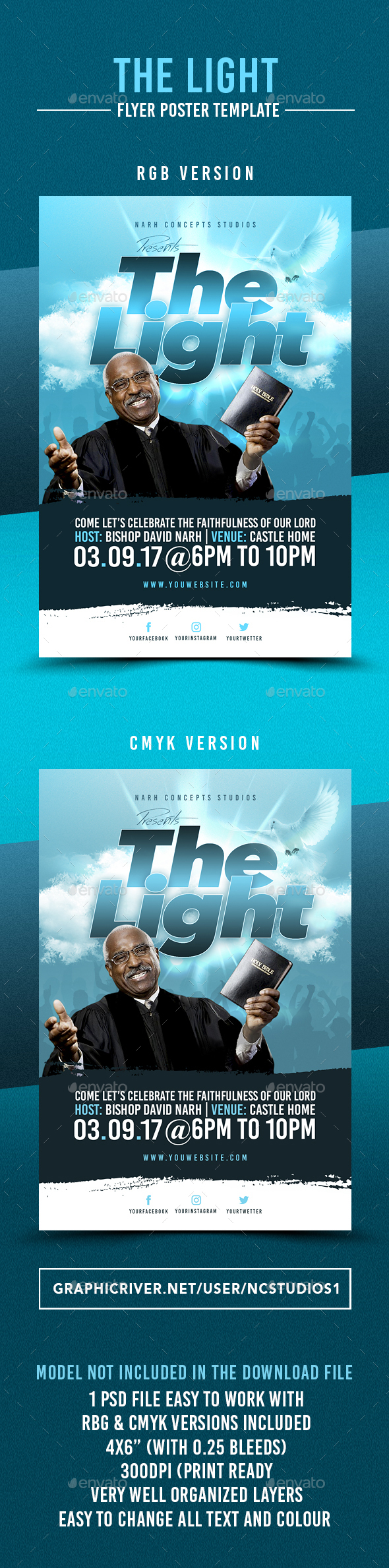 The Light Flyer Template - Flyers Print Templates