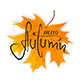 Lettering Hello Autumn on Orange Maple Leaf - GraphicRiver Item for Sale