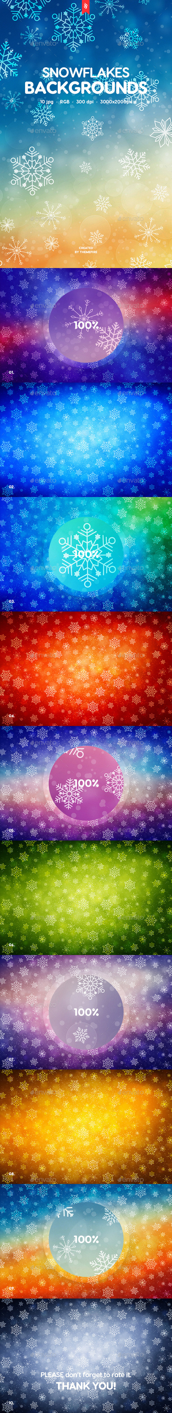 Snowflakes Backgrounds - Backgrounds Graphics