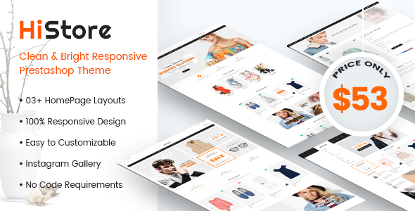 HiStore - Clean and Bright Responsive PrestaShop 1.7 Theme