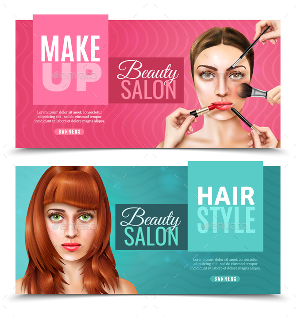 Model Face Salon Banners - Industries Business