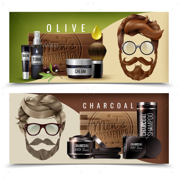 GraphicRiver Realistic Male Cosmetics Banners 20672976