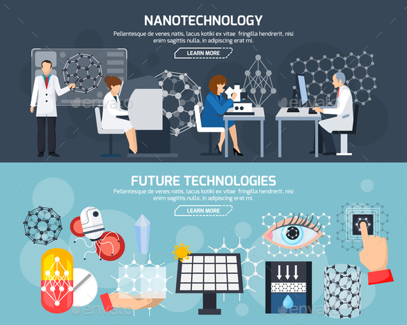 GraphicRiver Nanotechnology Horizontal Banners 20672980