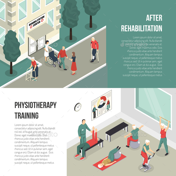 Rehabilitation and Physiotherapy Training Banners - Health/Medicine Conceptual