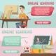 Online Education Orthogonal Banners