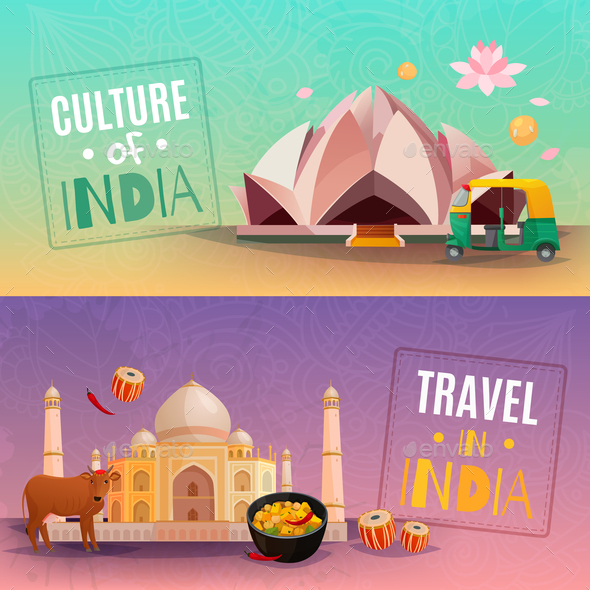 India Horizontal Banners - Travel Conceptual