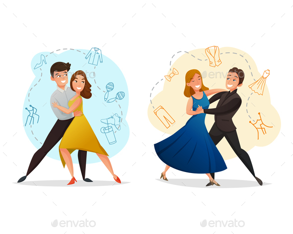 GraphicRiver Pair Dance 2 Templates Set 20673038