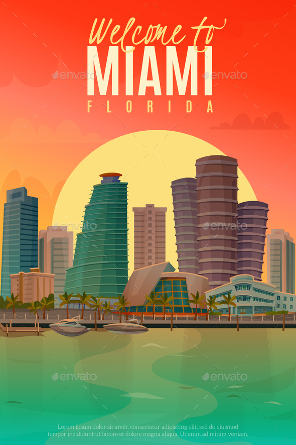 GraphicRiver Evening Miami Poster 20673045
