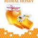 Natural Floral Honey Realistic Poster