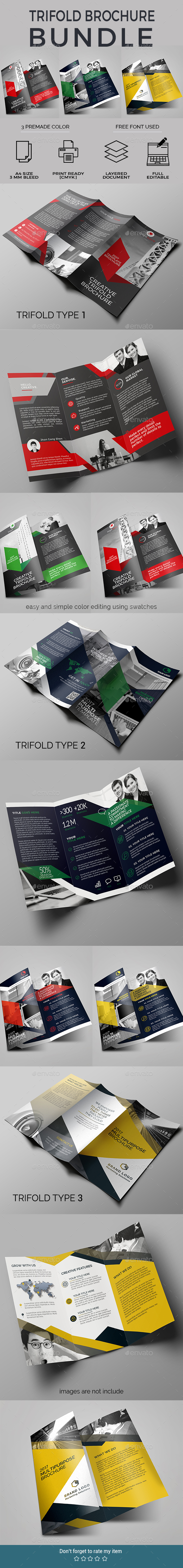 GraphicRiver Trifold Bundle 20673146