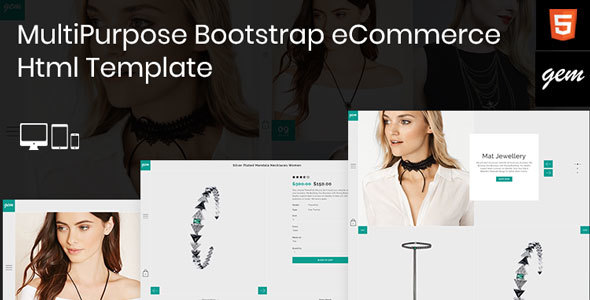 ThemeForest Gem Multipurpose Responsive Bootstrap eCommerce Html Template 20519790