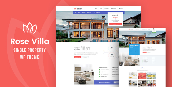 Rose Villa - Single Property, Real estate WordPress Theme