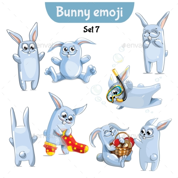 Set of Rabbit Characters Set 7 - Animals Characters