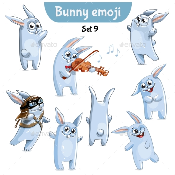 Set of Rabbit Characters Set 9 - Animals Characters