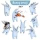 Set of Rabbit Characters Set 9