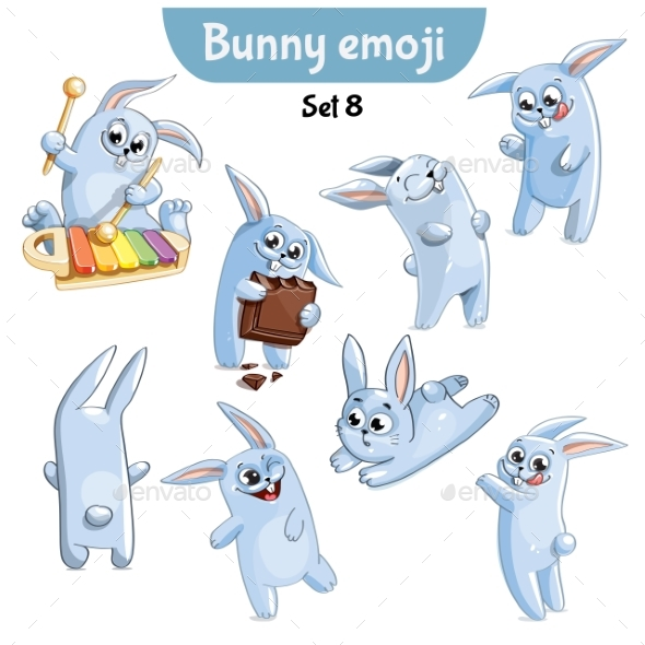 Set of Rabbit Characters Set 8 - Animals Characters