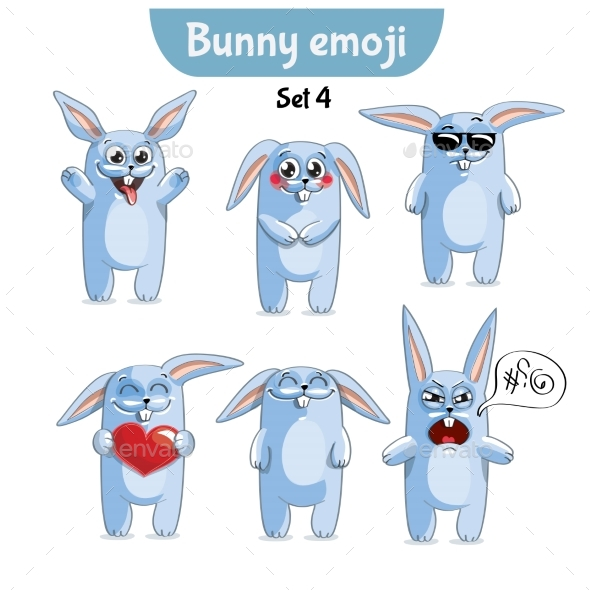 GraphicRiver Set of Rabbit Characters Set 4 20673381