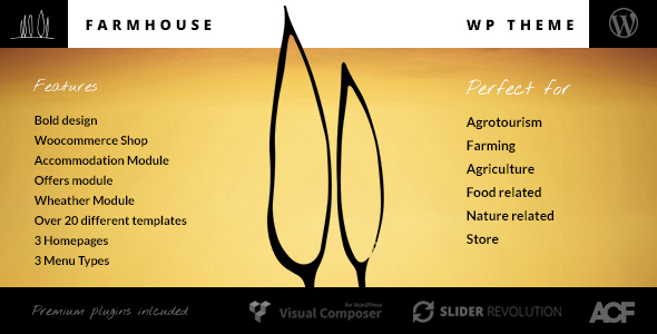 Farmhouse - Agrotourism, Farming and Agriculture theme - Retail WordPress