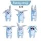 Set of Rabbit Characters Set 3